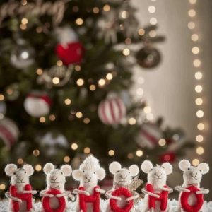 felt mice christmas decorations spelling out ho ho ho from Cox & Cox