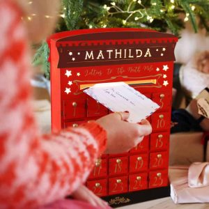personalised wooden letterbox advent calendar