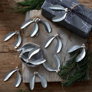 metal mistletoe christmas decorations for decorating the tree, adding as toppers to your gift wrap or creating beautifully festive place settings for your christmas table