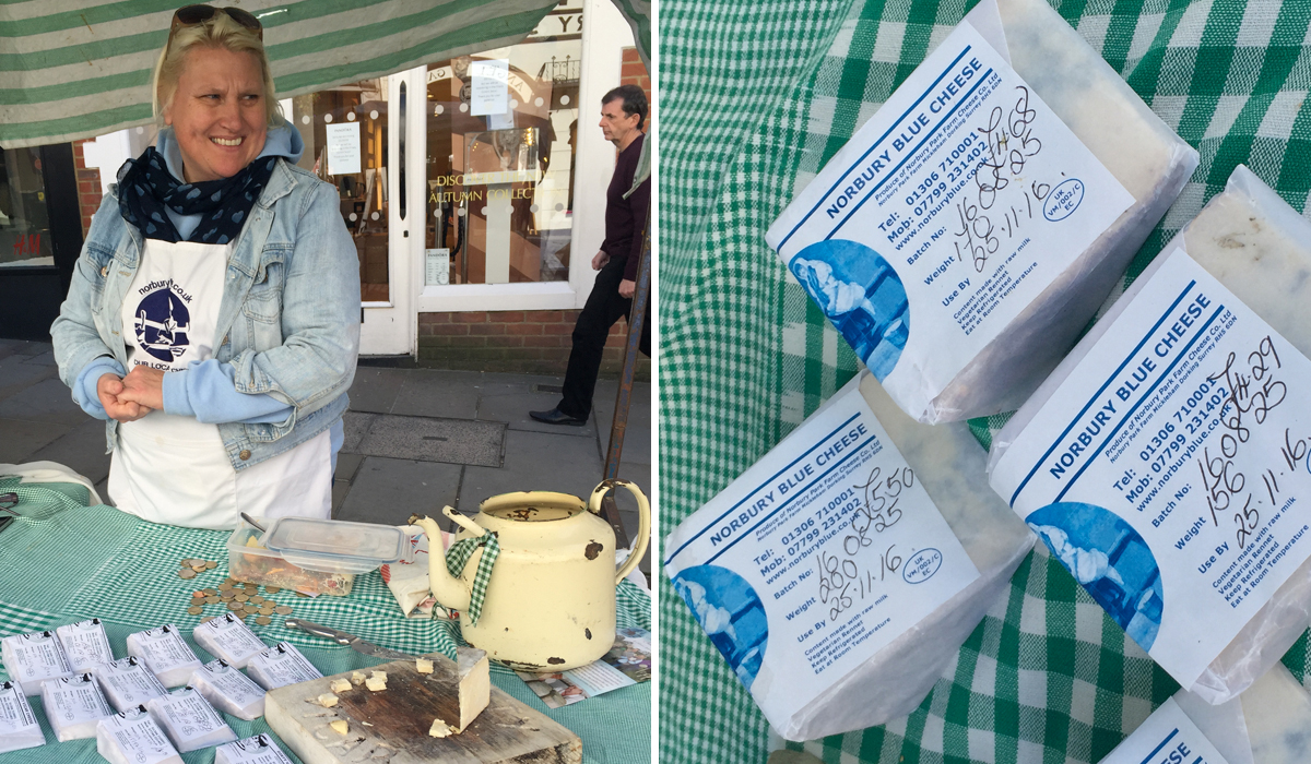 Norbury Blue Cheese at guildford-farmers-market