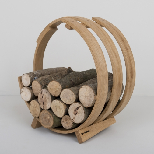 we love tom raffield log loop wood basket from. Black Bedroom Furniture Sets. Home Design Ideas