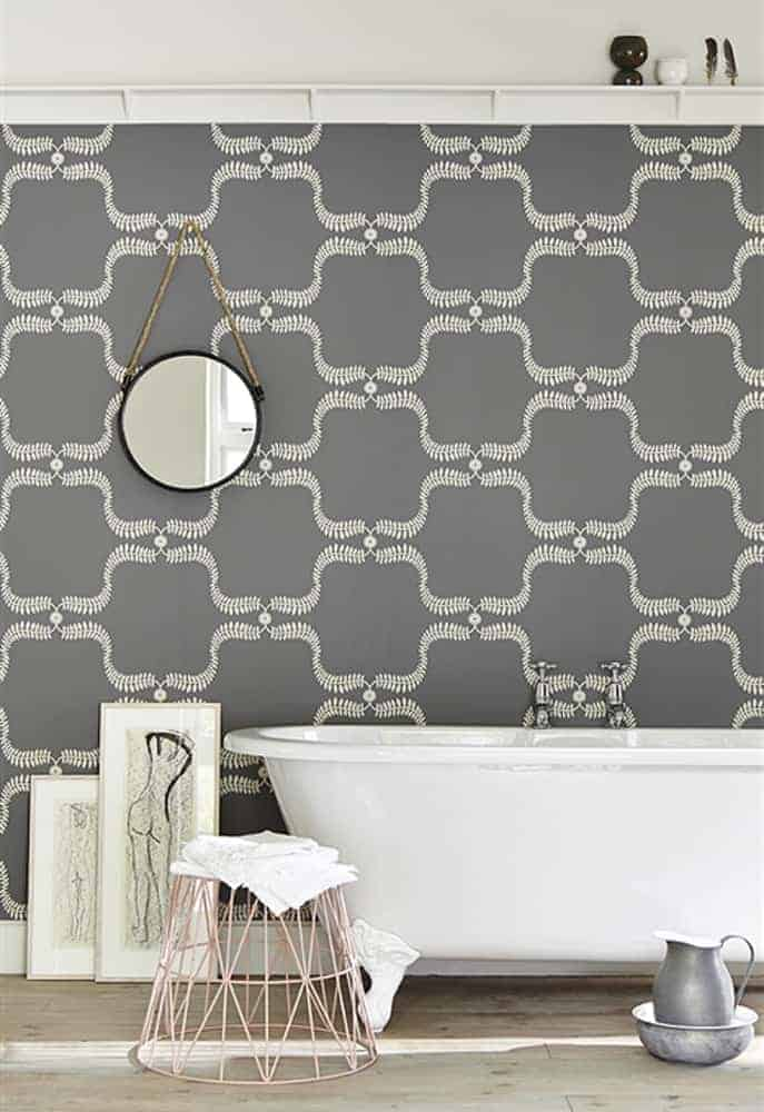 vanessa arbuthnott down the garden path grey wallpaper